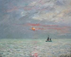 Bateaux au coucher du soleil, MAUFRA Maxime