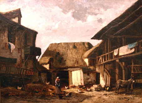 huile sur toile, daté 1875