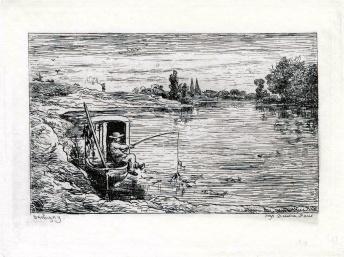 Le Mousse à la pêche, C.F DAUBIGNY