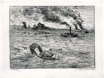 Les Bateaux à vapeur, C.F DAUBIGNY