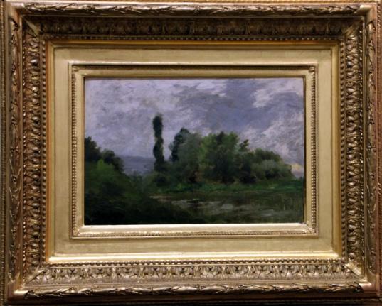 Paysage avec étang, C.F DAUBIGNY