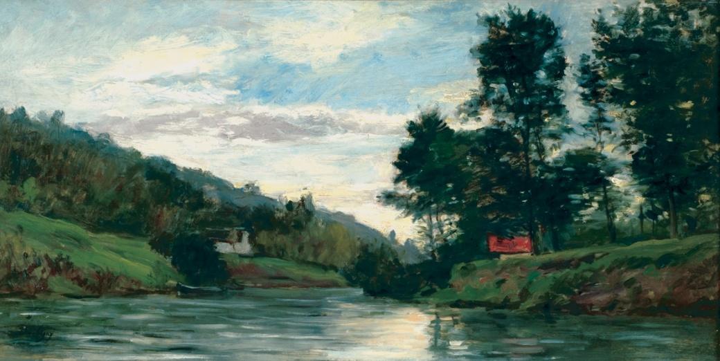Ile de Vaux, petit bras de l'Oise à Auvers, DAUBIGNY J.F
